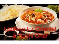 Looking for Thai/Japanese cuisine experienced Chef