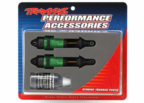Traxxas TRA7461G Shocks, GTR long Green-anodized, PTFE-coated bodies with TiN
