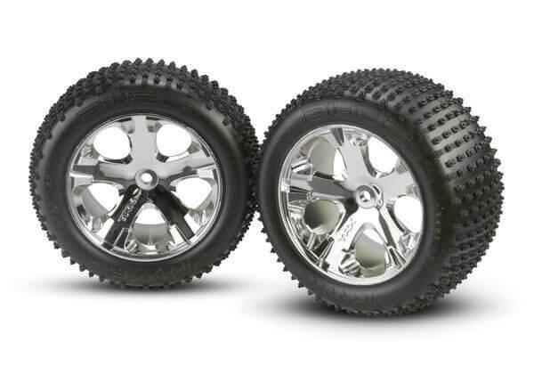 Traxxas Rear Chrome Wheel and Alias Tire 3770
