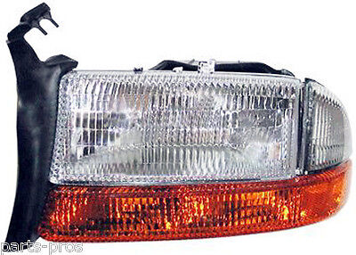 New Replacement Headlight With Signal & Side Marker LH / FOR DAKOTA & DURANGO