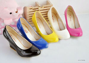 NEW-Design-Womens-Wedge-Candy-Color-High-Heels-Pumps-Shoes-AU-All-Size-Z062