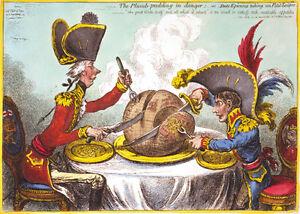 The Plumb-pudding in danger 1805 James Gillray print