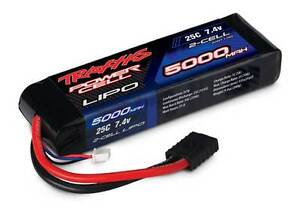 Traxxas 2868 25C 7.4V 2S 2-Cell 5000mAh LiPo Battery Pack Slash E-Maxx E-Revo