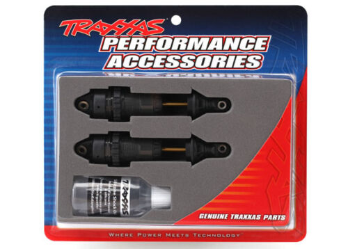 Traxxas Part 7461X Shocks Front GTR long black anodized Slash Rustler Stampe New