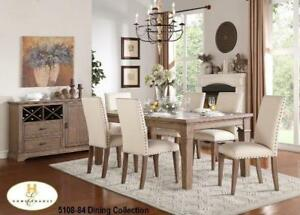 Neutral tone 7 PC Dining Set (MA210)