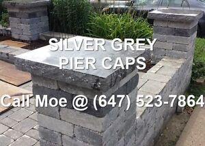 Silver Grey Pier Cap Grey Column Top Gray 3 inch Pier Cap Cappin