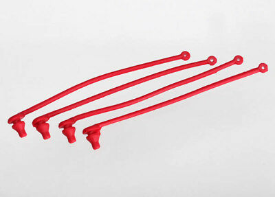 (Traxxas 5752 Body Clip Retainer Set (4) (Red))