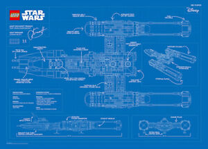LEGO #5005624, Y-Wing Starfighter™ Blueprint Poster