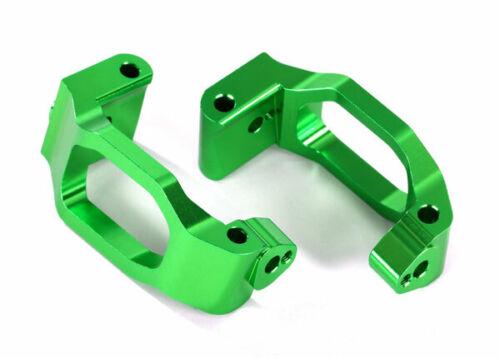 Traxxas Part 8932G Caster blocks c-hubs 6061-T6 aluminum green-anodized New