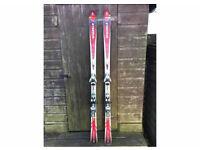 Volki Suntro S31 skis and Salomon bindings.