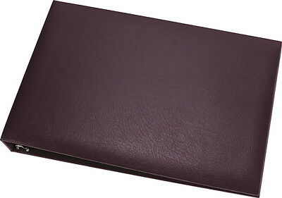 7-Ring 3-on-a-Page Business Check Book Binder Top Quality w/Pouch Burgundy *NEW*