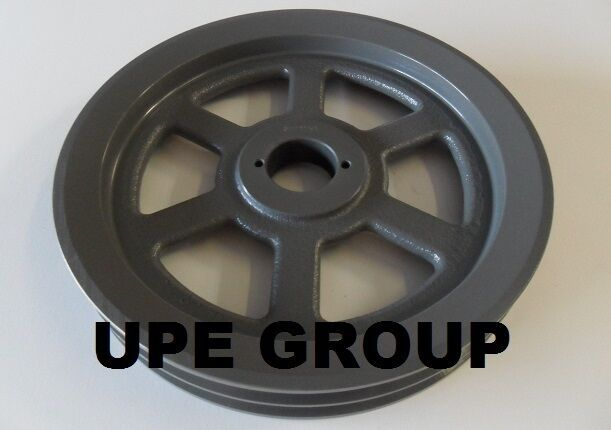 "Cast Iron pulley SHEAVE  11.75"" for electric motor 2 groove for B & 5L 5/8 belts"