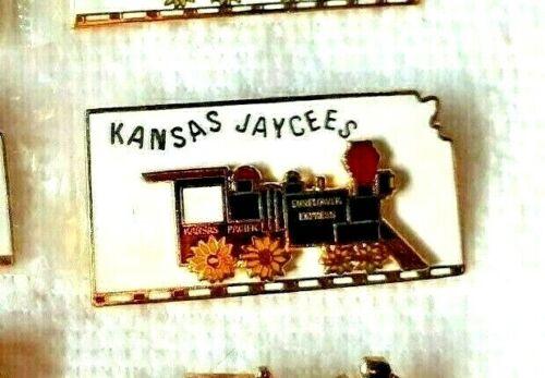 Vintage Jaycees Pin Kansas Sunflower Express 1970