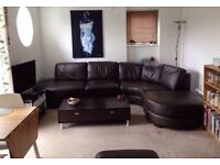 Leather leather corner sofa £500