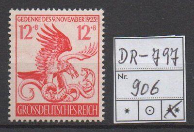 Deutsches Reich, Michel Nr. 906 (Feldherrnhalle) tadellos postfrisch.