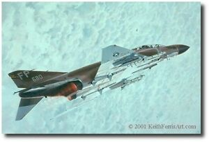 MiG Sweep by Keith Ferris- F-4C Phantom- Aviation Art Prints