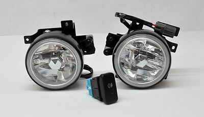 Honda Element 03-04 Crystal Jdm Front Fog Lights W/ Switch - Clear