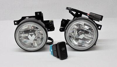 Honda Element 03-04 Crystal Jdm Front Fog Lights W/ Switch - Clear