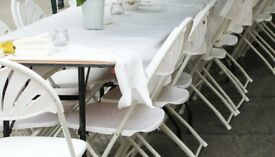 Chairs & Table Hire in Central London + Discount Marquees, Heaters, LED Lights & Party Speakers