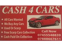 Cars wanted free collection used or scrap