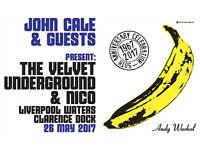 Velvet underground John cale Liverpool - 2 Tickets