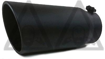 "Black Bolt On Exhaust tip for Diesel truck 4"" inlet 6"" outlet 15"" long"