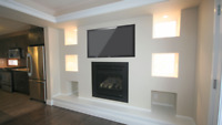 Accent Walls, Fireplace Surrounds, Installation