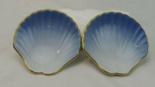 Poresgrund Norway Blue Shell Shaped Butter Pats Set of 2