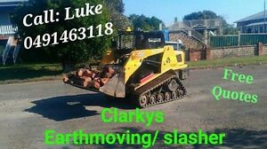Excavation slashing  Posi track skid steer  hire with Operator. East Kempsey Kempsey Area Preview