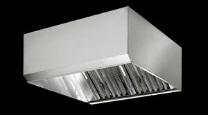UL Restaurant Kitchen Grease Exhaust Hood 4ft to 16ft