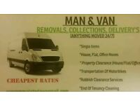 Man & Van Hire & Removals ,Property Moves, House Clearance