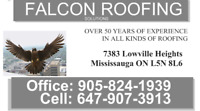 Falcon Roofing-Over 50 Years Experience! No Job too small.