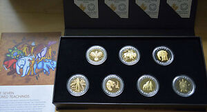 Silver Coin Set 7 Sacred Teachings