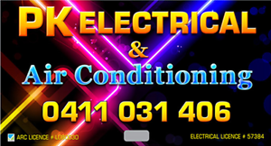 PK ELECTRICAL & AIR CONDITIONING Brisbane City Brisbane North West Preview