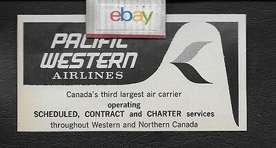 PACIFIC WESTERN AIRLINES CANADA'S THIRD LARGEST AIR CARRIER 1968 AD
