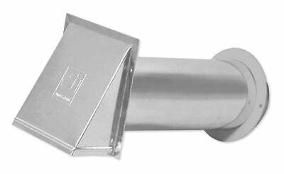 "PVB4EALZW 4"" Dryer Vent Exhaust Hood All Aluminum Dundas Jaf"
