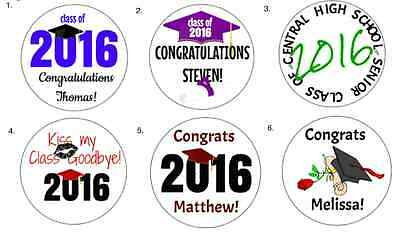 College Graduation Favors (324 Personalized Graduation Labels High School College Hershey Kiss Favors)