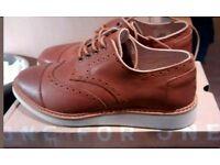 Men's Toms tan leather summer brogues uk7 RRP £85