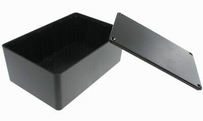 Black Plastic Enclosure Project Box With Lid And Screws 5.89 X 3.89 X 2.36