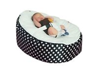 Black and white baby bean bag hardly used