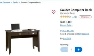 Computer desk for $100 - two months old -original price was $315