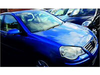 VOLKSWAGEN VW POLO 2005 58,000 MILES 1.4 DIESEL 5 DOOR HATCHBACK MANUAL BLUE