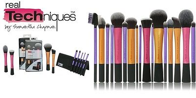 REAL TECHNIQUES Makeup Brushes Core Collection Expert Face Eyes Foundation Blush