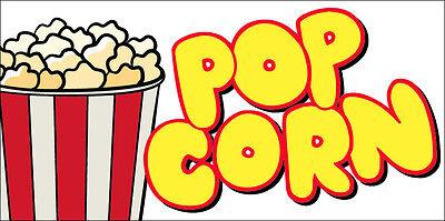 12x6 Decal Sticker - Pop Corn Food Truck Restaurant Store Sign