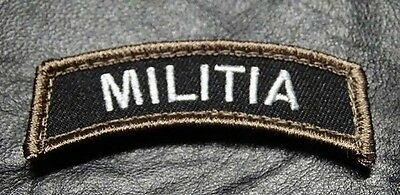 MILITIA ROCKER TAB  ACU TACTICAL MORALE ROCKER HOOK PATCH