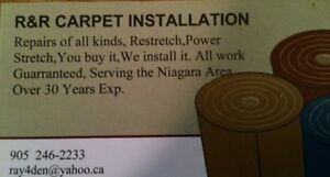 Carpet installations & Repairs