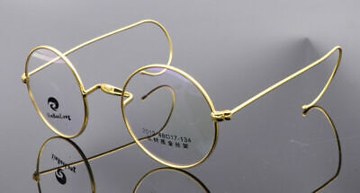 Rimmed Vintage Eyeglass Frames Spectacles Wire Round Retro Antique Rx (Wire Rimmed Glasses Frames)
