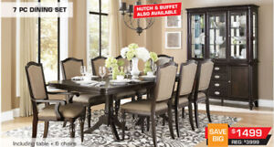 All Dining Table Sets Now 0n Sale up to 60% 0FF Storewide!