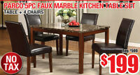 Parco 5pc Faux Marble Table Set, $199 Tax Included!