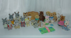 Calico Critters Figures. Cats Dogs, Rabbits, Nice variety